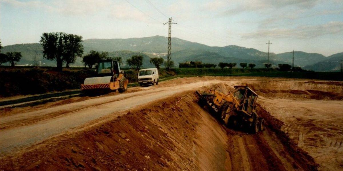 Construcció d'una bassa a Caldes de Montbui (1995)