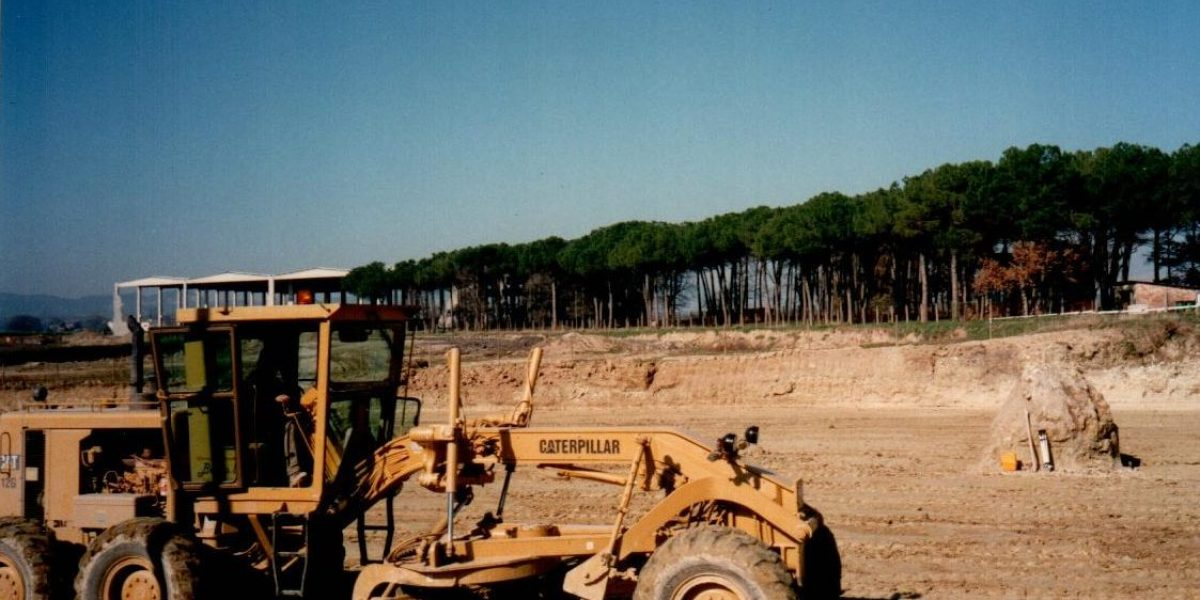 Nivellació del terreny de la nova fase ChocoVic (1997)